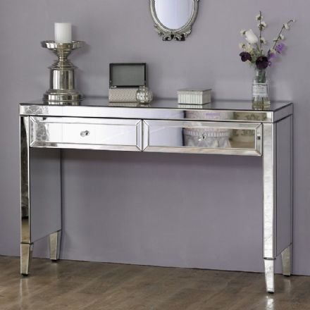 Vienna Mirrored 2 Drawer Dressing Table